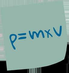 Formel für Büroorganisation: Impuls = Masse * Geschwindigket