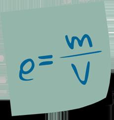 Formel für Büroorganisation: Dichte = Masse / Volumen