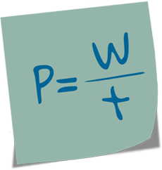 Formel für Büroorganisation: Leistung = Arbeit / Zeit
